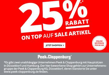 25% p+c* gutschein